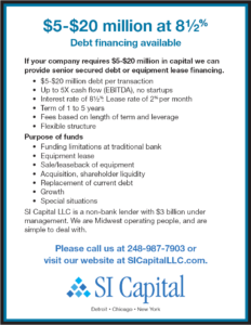 SI Capital Debt Financing